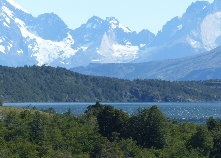 First view of the mountains in Torres del Peine