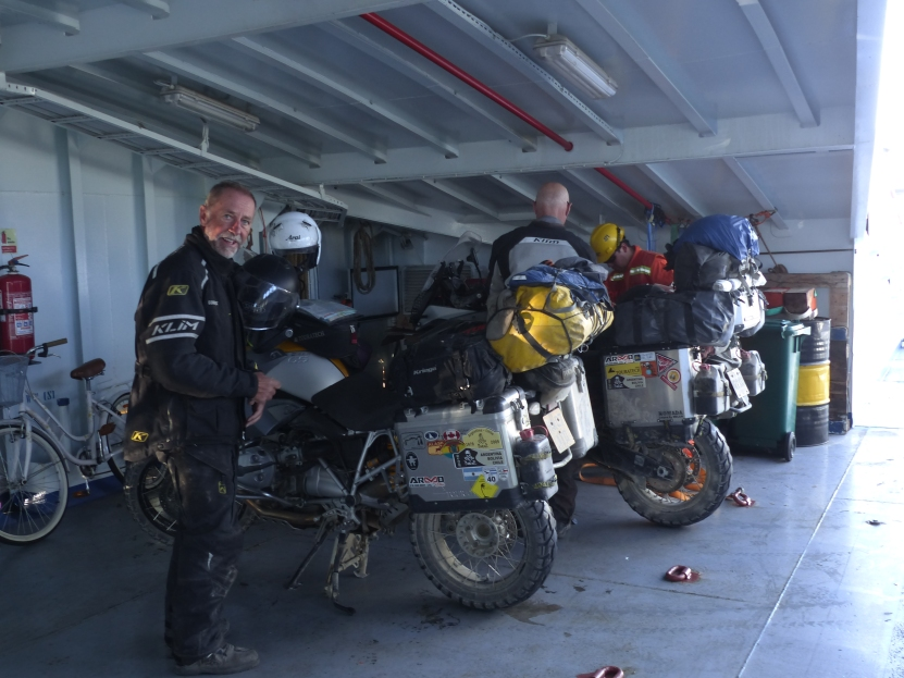 On the ferry from Punta Arenas to Tierra del Fuego