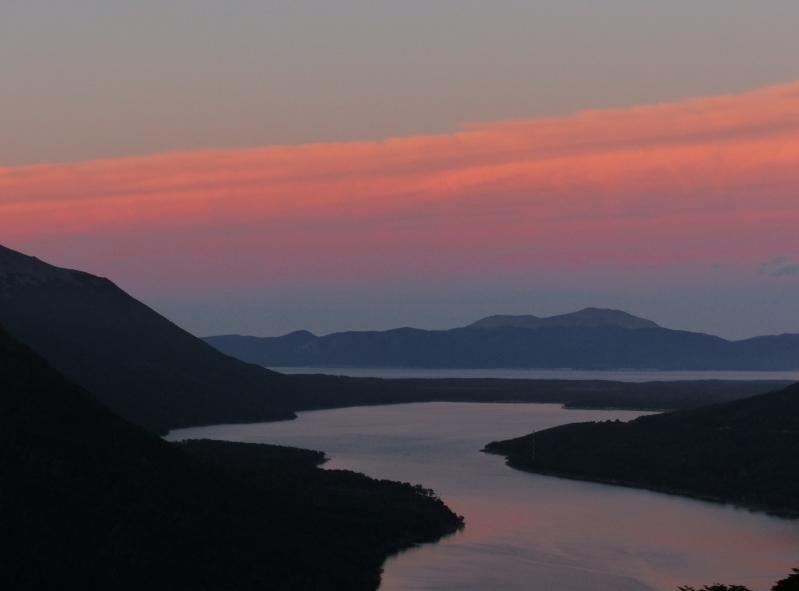 Nearing Ushuaia at sunset