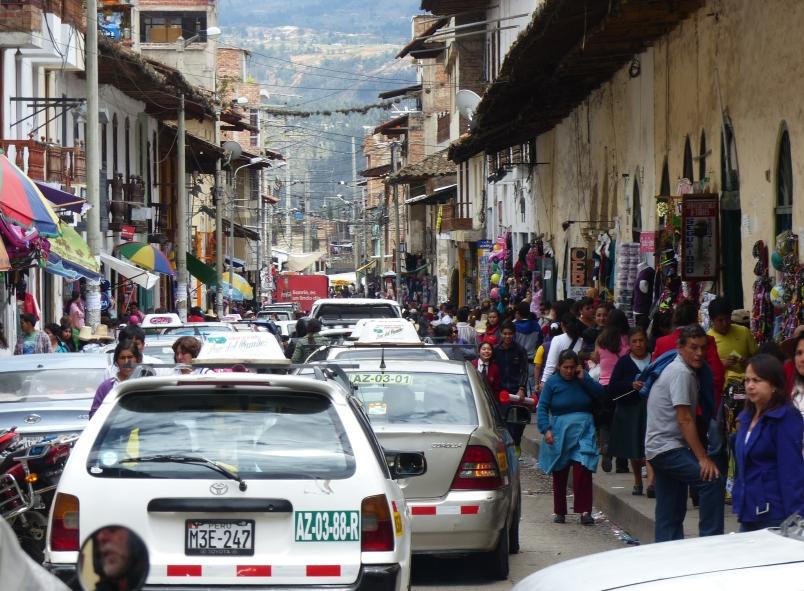Leaving Cajamarca.