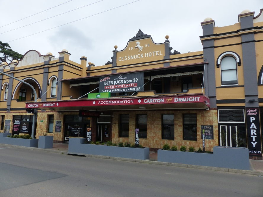 The center of the Hunter Valley wine district.