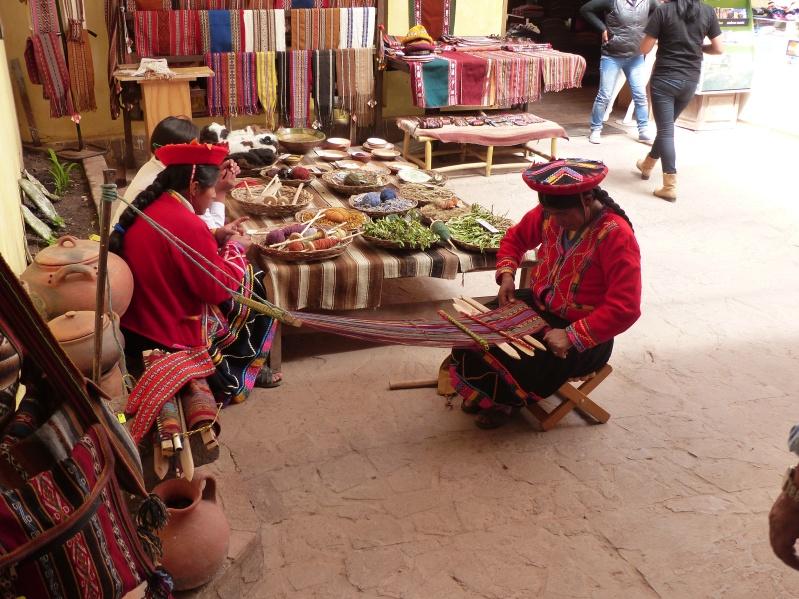 Weaving demonstration.