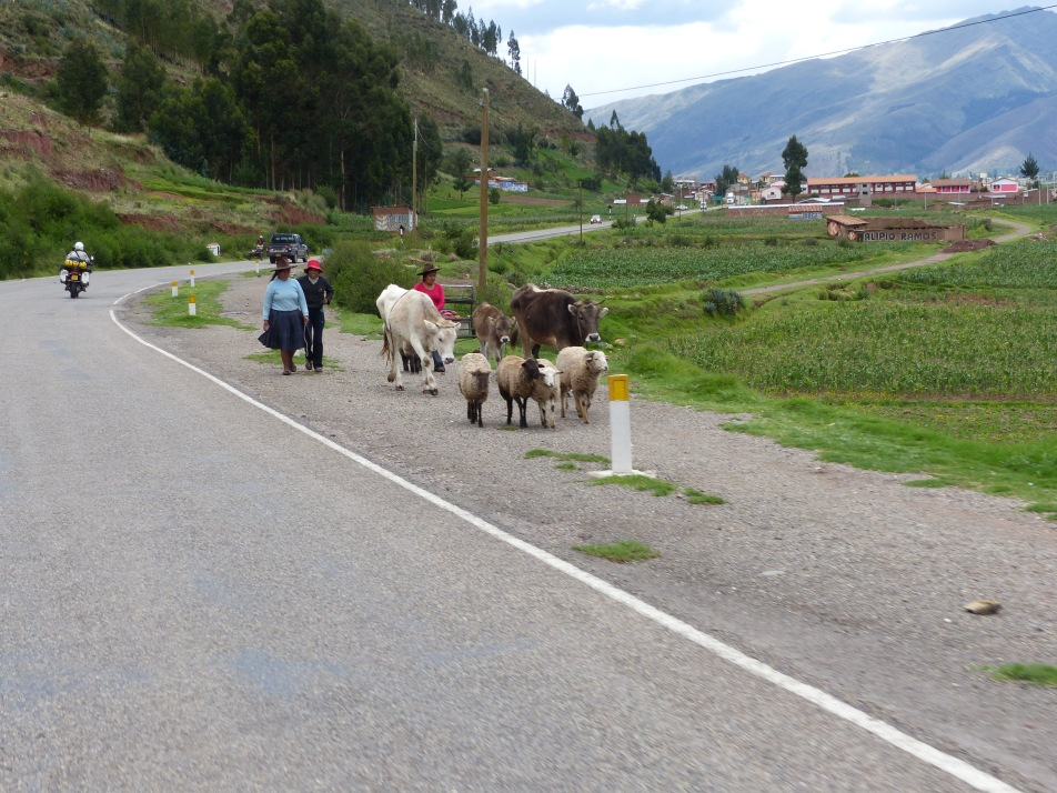 Leaving the Cusco area.