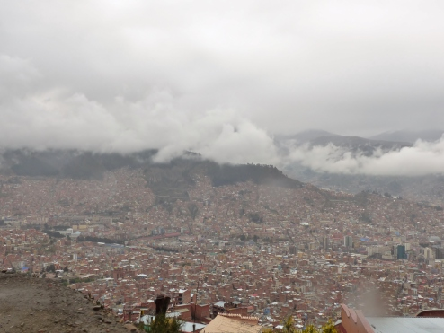 First view of the main area of La Paz