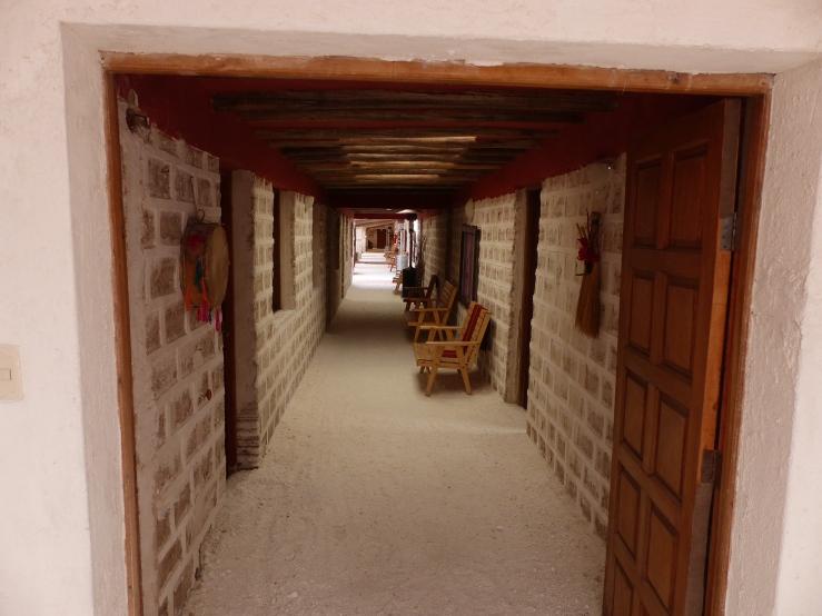 Our hotel, Sol Luna Salada, was built out of blocks of salt