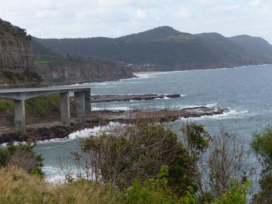 Sea cliff bridge en route.