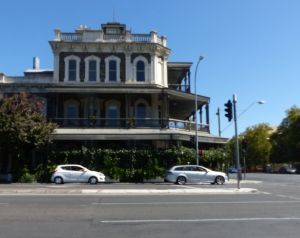 Streets of Adelaide are deserted.