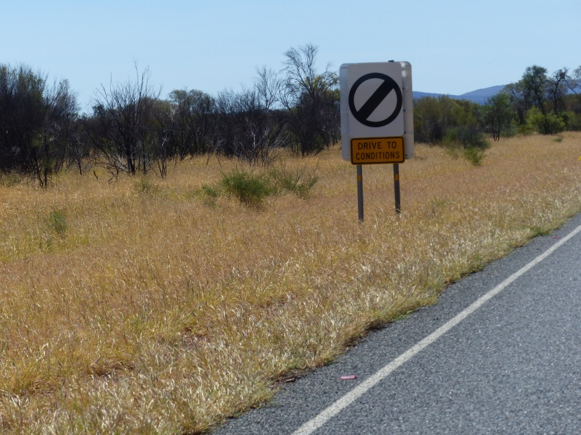 No speed limits....Stuart Highway.