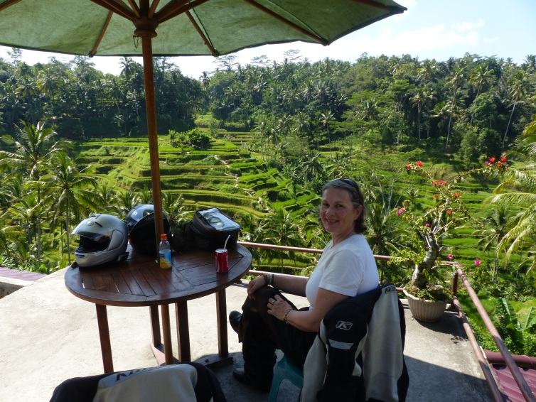 At the rice terraces the next morning.