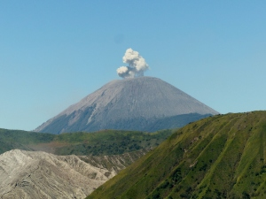 Mount Semeru is still very active