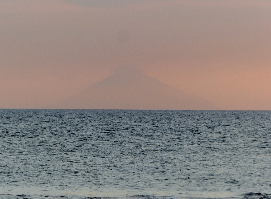 HInt of Krakatau at sunset.
