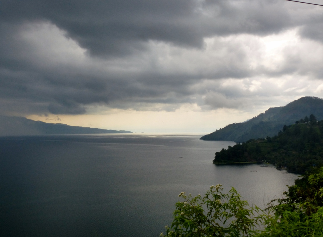 Storm over Lake Toba.