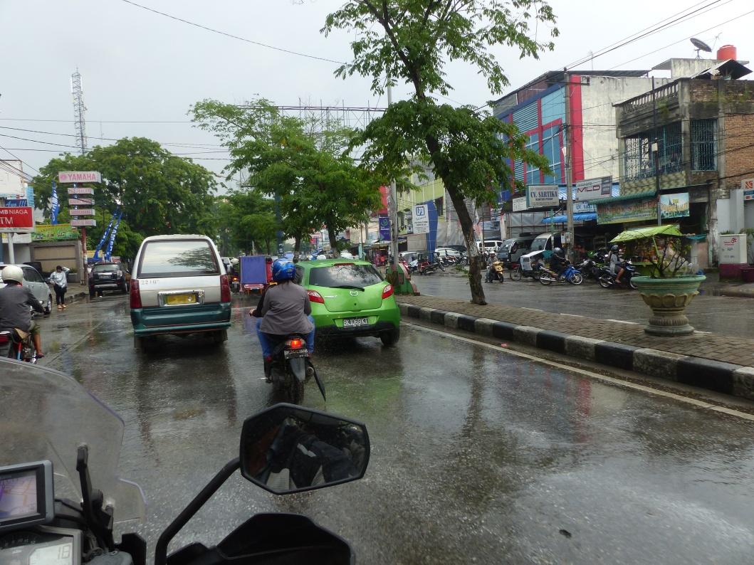 Arriving in Medan.